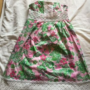 Lilly Pulitzer Strapless Betsey Dress